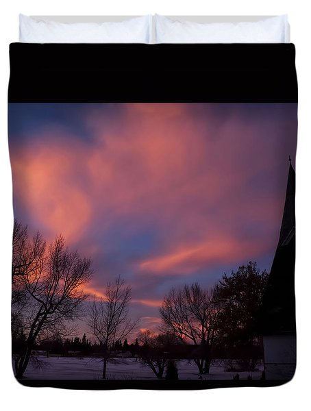 December Skies Duvet Cover