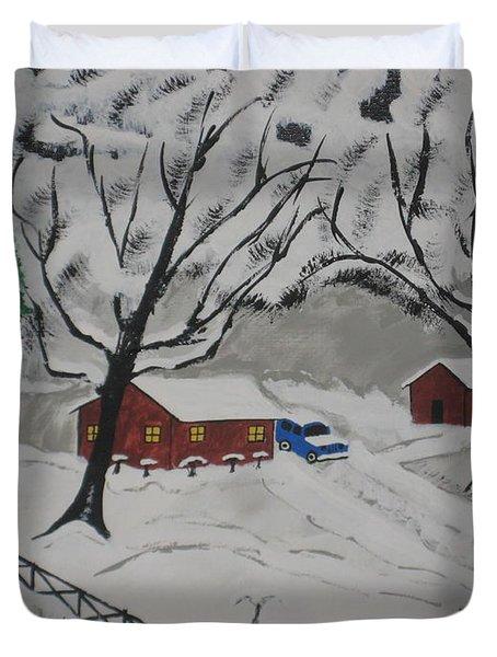 December Snow Duvet Cover