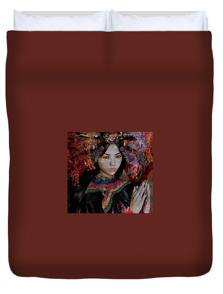 December Vision Duvet Cover by Suzanne Silvir
