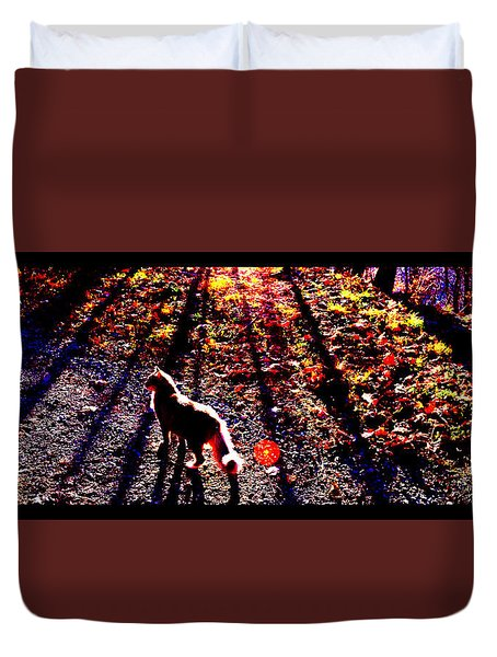 December Walk In The Blue Ridge Duvet Cover