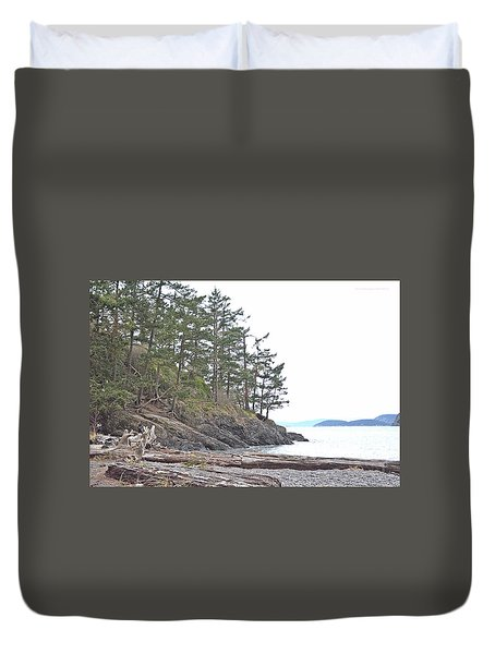Deception Pass In Late December  Duvet Cover
