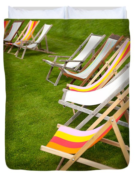 Deck Chairs Duvet Cover