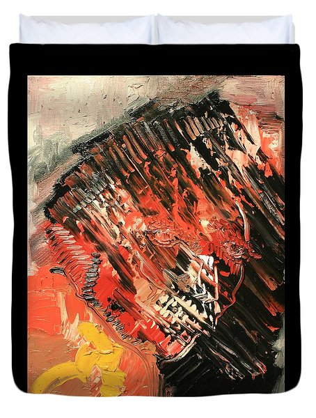 Declaration Of War Self Portrait Duvet Cover by Michael Kulick