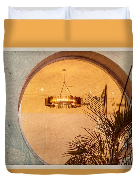 Duvet Cover featuring the photograph Deco Circles by Melinda Ledsome