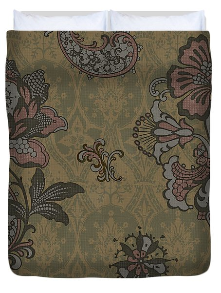Deco Flower Brown Duvet Cover by JQ Licensing