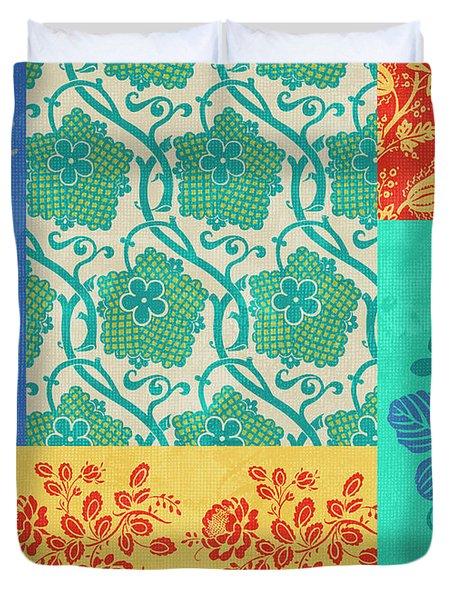 Deco Flowers Duvet Cover by JQ Licensing