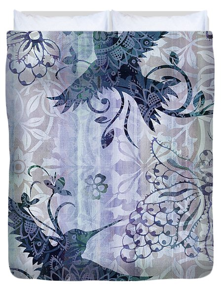 Deco Hummingbird Blue Duvet Cover