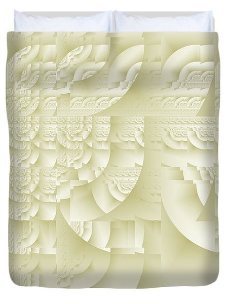 Duvet Cover featuring the digital art Deco Relief by Richard Ortolano