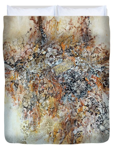 Duvet Cover featuring the painting Decomposition  by Joanne Smoley