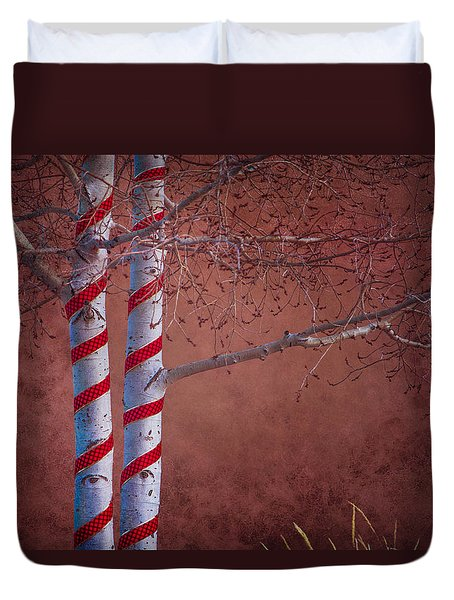 Decorated Aspens Duvet Cover