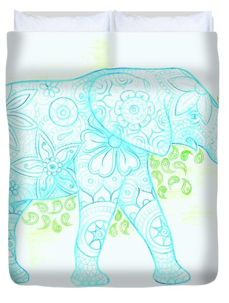 Decorated Elephant Duvet Cover