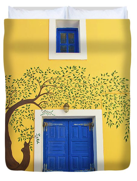 Decorated House Duvet Cover by Meirion Matthias