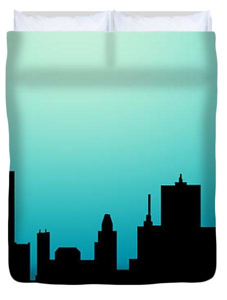 Decorative Abstract Skyline Houston R1115a Duvet Cover