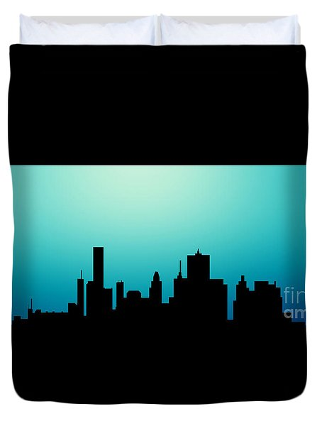 Decorative Abstract Skyline Houston R1115a Duvet Cover