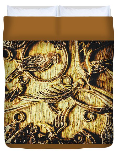 Decorative Bird Charms Duvet Cover