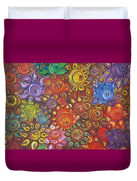 Decorative Flowers Duvet Cover
