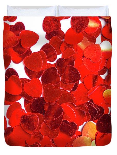 Decorative Heart Background Duvet Cover