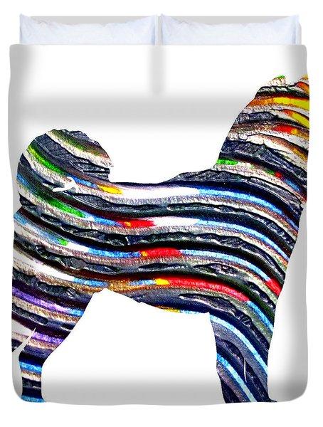 Decorative Husky Abstract O1015b Duvet Cover