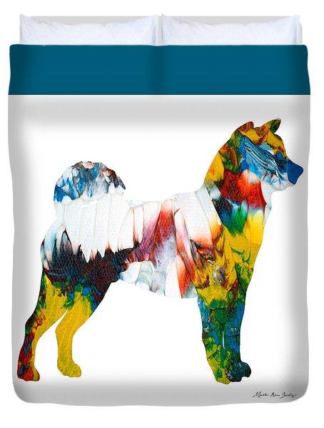 Decorative Husky Abstract O1015m Duvet Cover