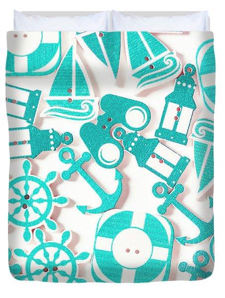 Decorative Marine Scene Duvet Cover