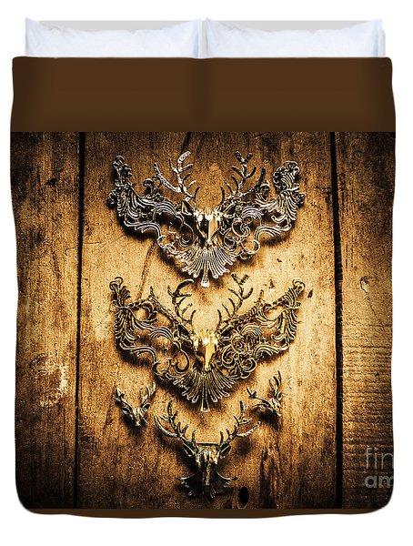 Decorative Moose Emblems Duvet Cover