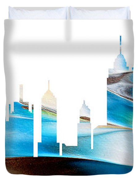 Decorative Skyline Abstract New York P1015a Duvet Cover