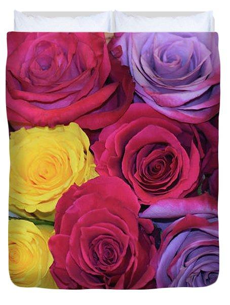 Decorative Wallart Brilliant Roses Photo B41217 Duvet Cover