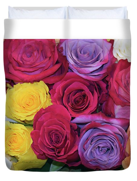 Decorative Wallart Brilliant Roses Photo B41217 Duvet Cover