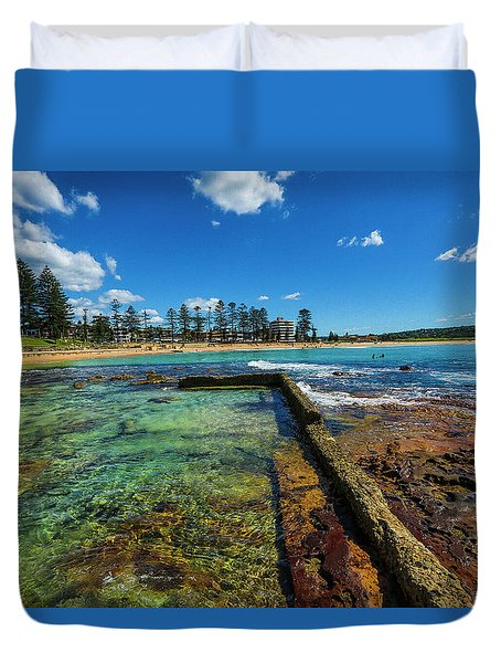 Dee Why Rock Pool Duvet Cover