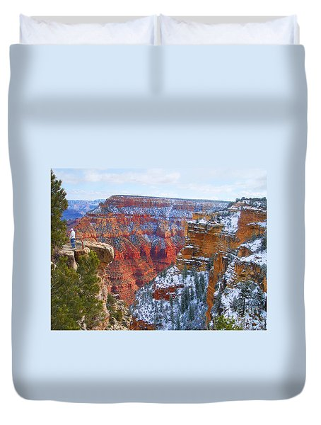Duvet Cover featuring the photograph Deep And Wide by Roberta Byram