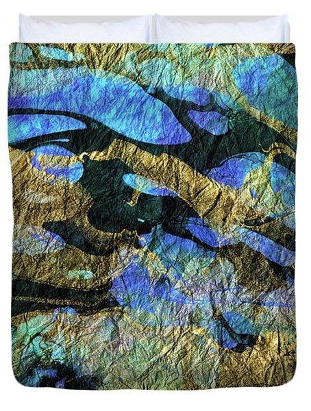 Deep Blue Abstract Art - Deeper Visions 1 - Sharon Cummings Duvet Cover