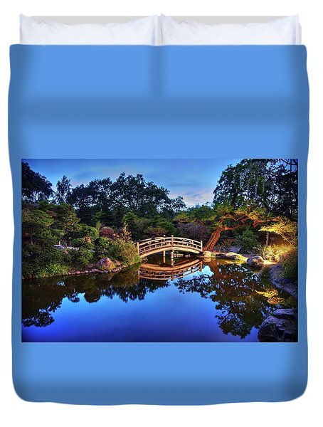 Duvet Cover featuring the photograph Deep Blue, I Am Thinking Of You by Peter Thoeny