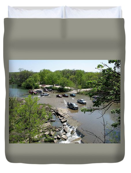 Deep Creek Waterfall Duvet Cover