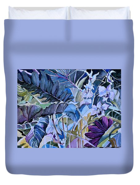 Duvet Cover featuring the painting Deep Dreams by Mindy Newman