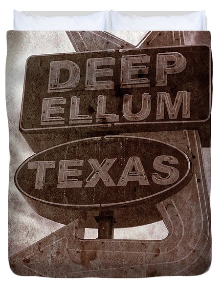 Deep Ellum Texas Duvet Cover by Jonathan Davison