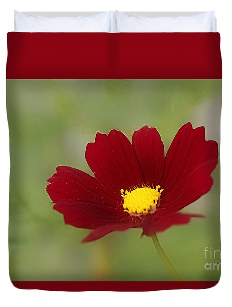 Deep In Red Duvet Cover by Yumi Johnson