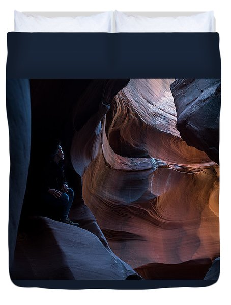 Deep In The Canyon Duvet Cover