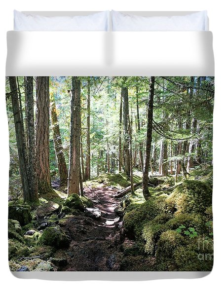 Deep In The Oregon Forest Duvet Cover