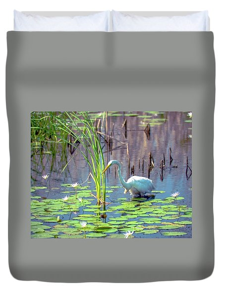 Deep In The Water Duvet Cover