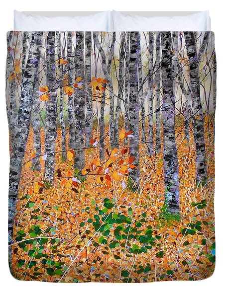 Deep In The Woods- Large Work Duvet Cover