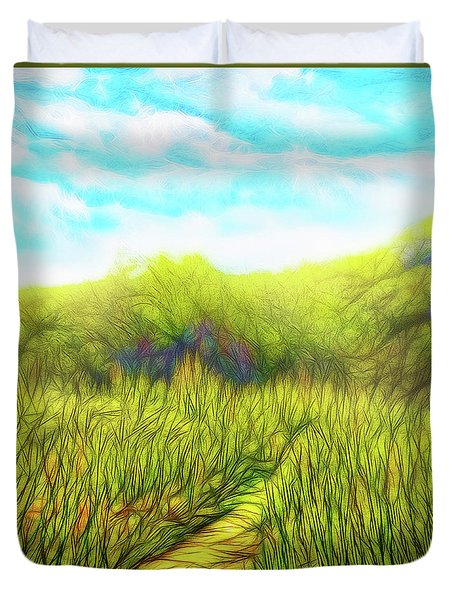 Deep Meadow Tranquility Duvet Cover