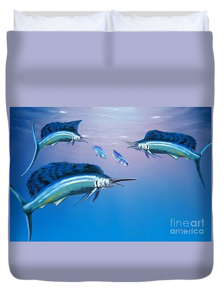 Deep Ocean Duvet Cover by Corey Ford