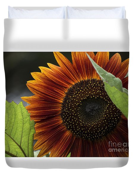 Deep Orange Duvet Cover