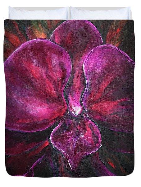 Deep Purple Orchid Duvet Cover