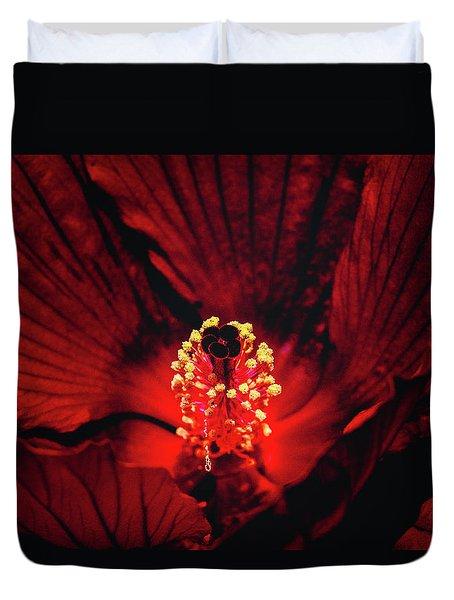 Deep Red Duvet Cover by Jae Mishra