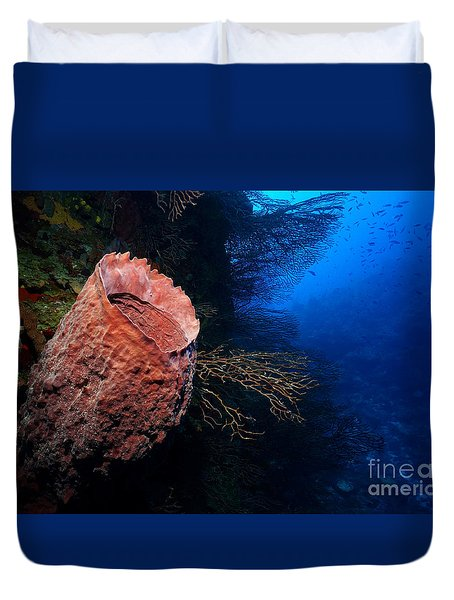 Deep Reef Duvet Cover