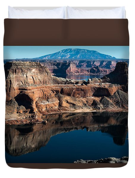 Deep Reflections In Lake Powell Duvet Cover