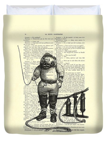 Deep Sea Diver Duvet Cover