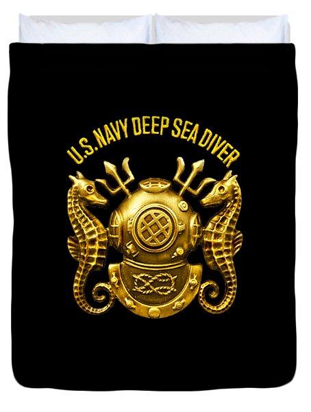 Deep Sea Diver Duvet Cover