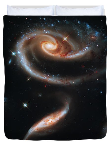 Deep Space Galaxy Duvet Cover by Jennifer Rondinelli Reilly - Fine Art Photography